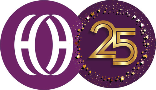 Hilton Hall - 25 years celebration - logo image